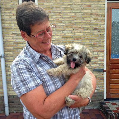 Jiun roshi met hondje Paco